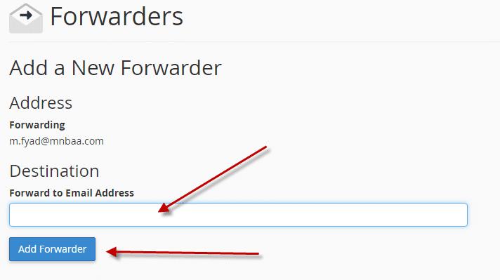 كيفية تحويل رسائل البريد الألكترونى لبريد ألكترونى اخر (Cpanel) 14